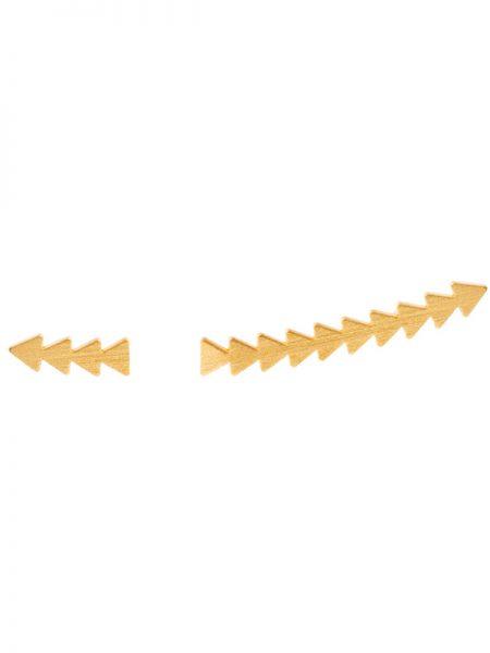 Brincos Setas Assimétricos Dourados