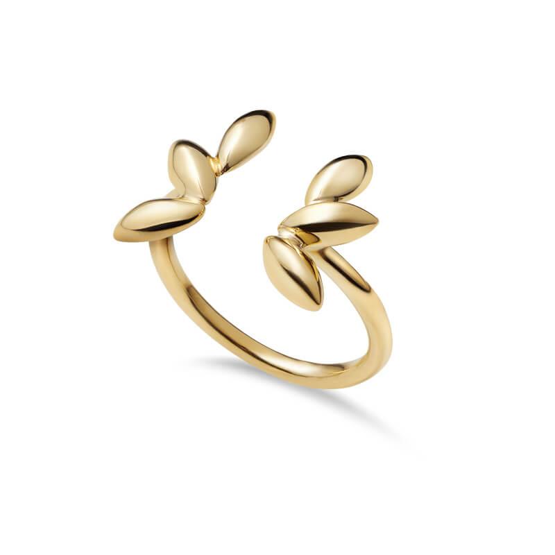 Anel Bagos grandes Dourado