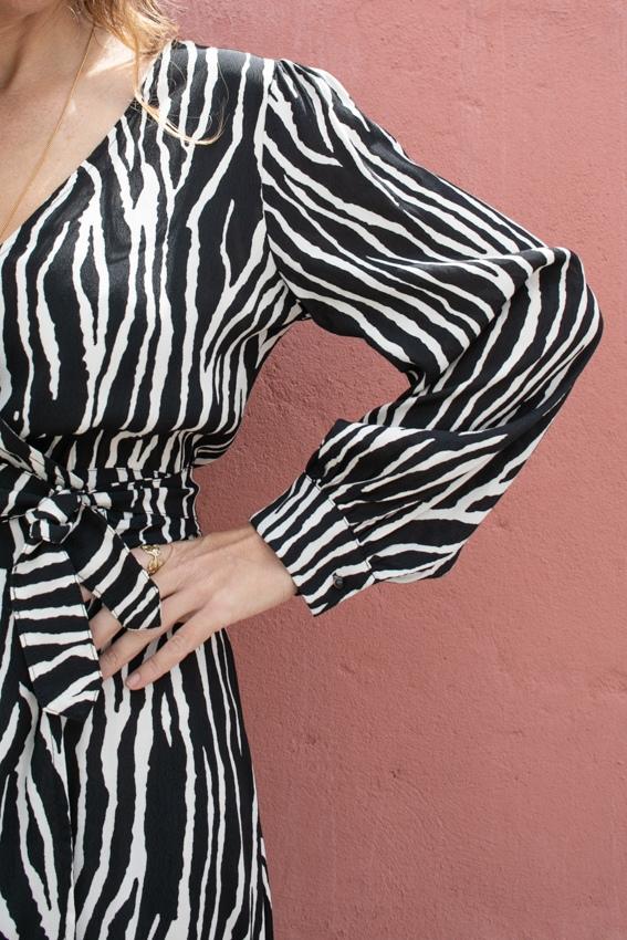 Vestido Zebra de Trespasse
