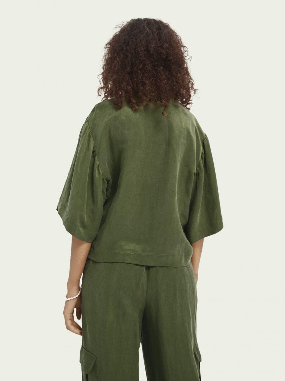 Camisa em Mistura de Linho