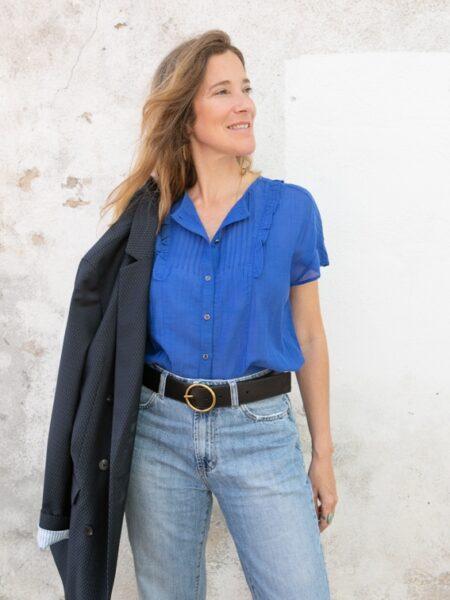 Blusa romântica azul-5