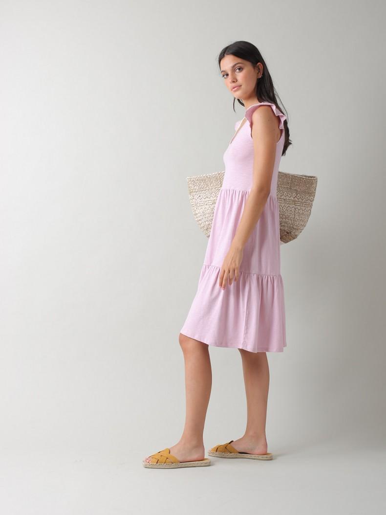 Vestido de Malha Lilás