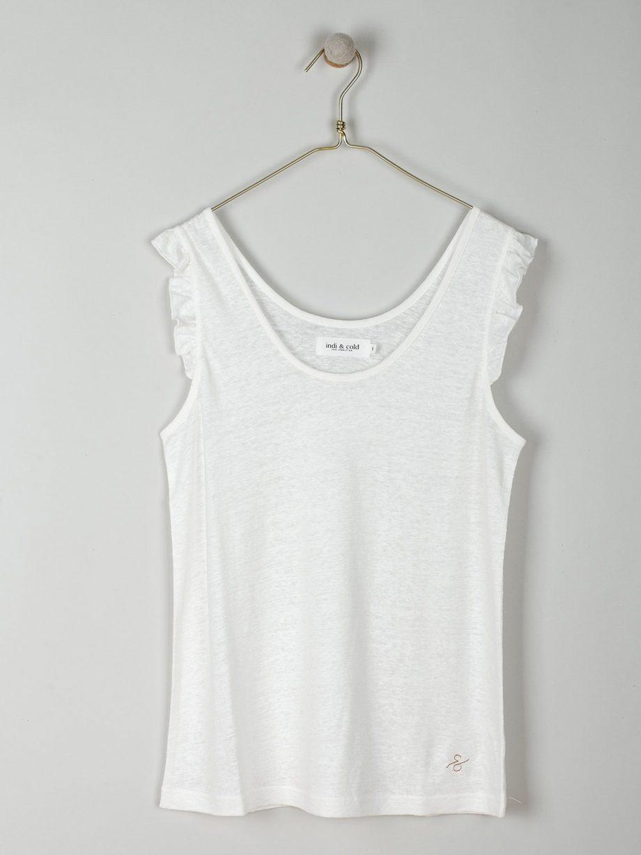 T-shirt de alças em linho