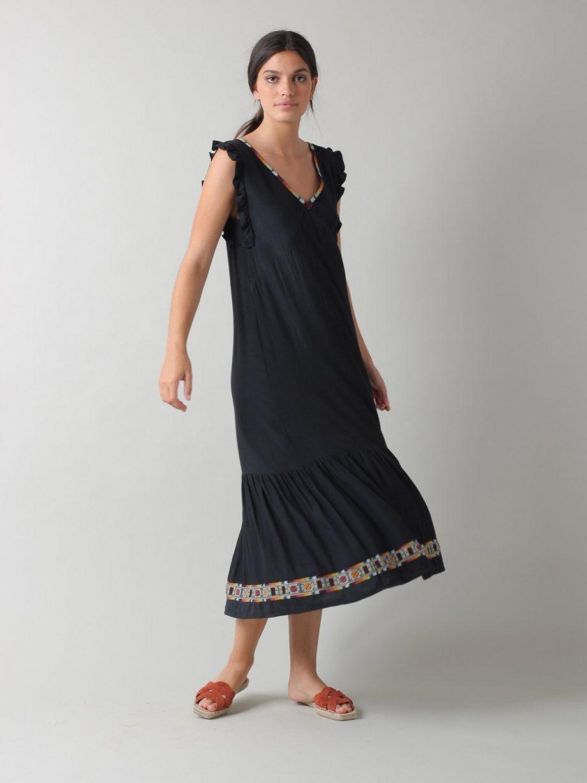 Vestido bordado étnico