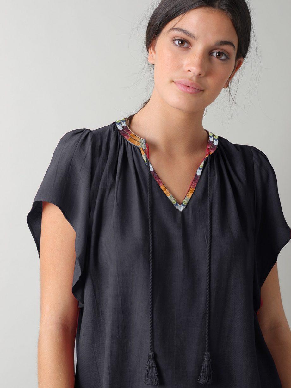 Blusa bordado étnico