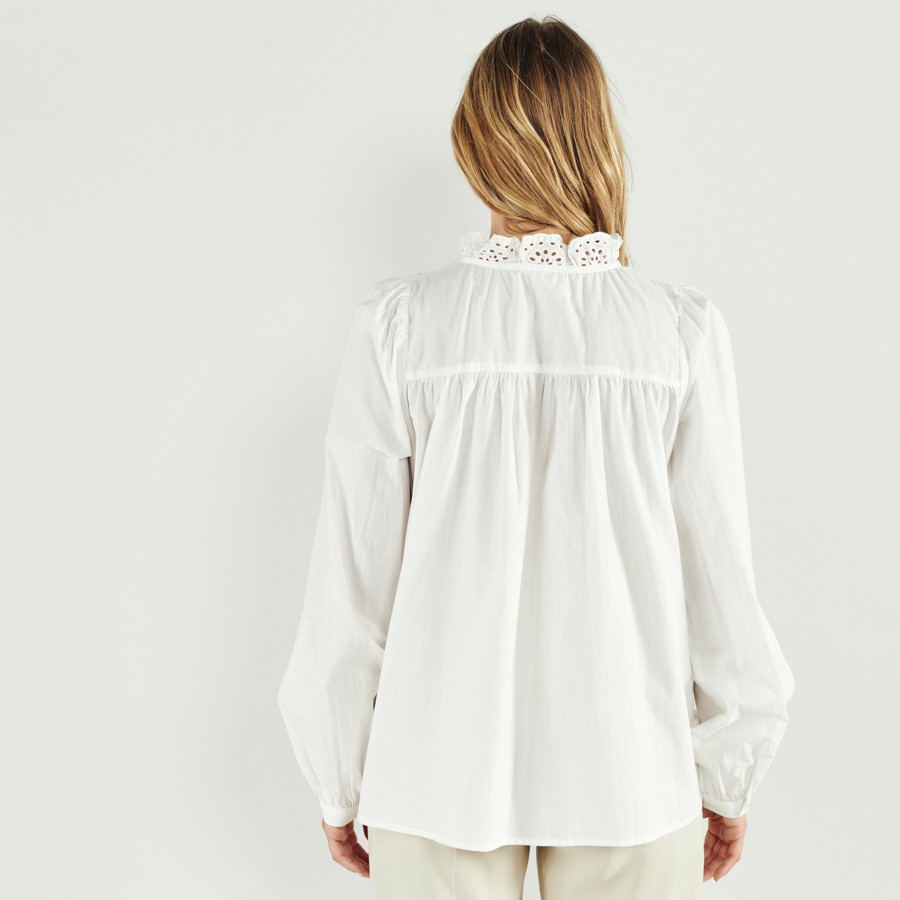 Camisa bordado inglês
