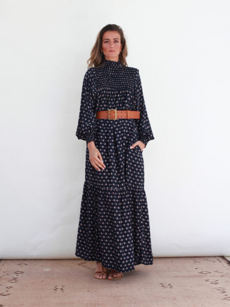 Vestido Comprido Meia Gola
