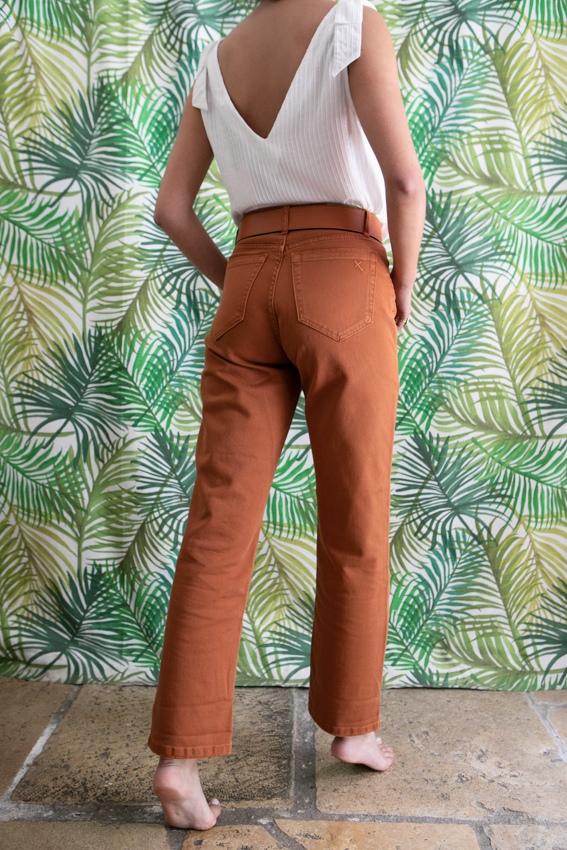 Calças Jeans Cor Tijolo