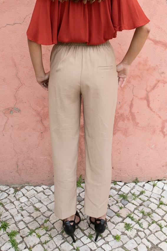 Calças Fluidas com cintura elástica
