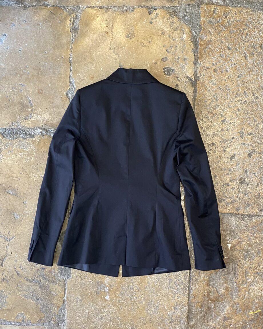 Blazer clássico cintado preto