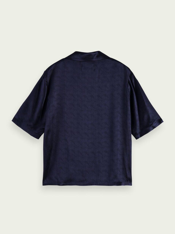 Camisa manga curta jacquard