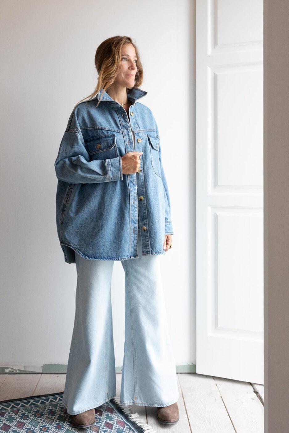 Casaco de jeans oversize