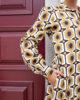 Vestido camiseiro estampado geométrico