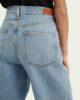 Jeans em algodão orgânico de corte largo