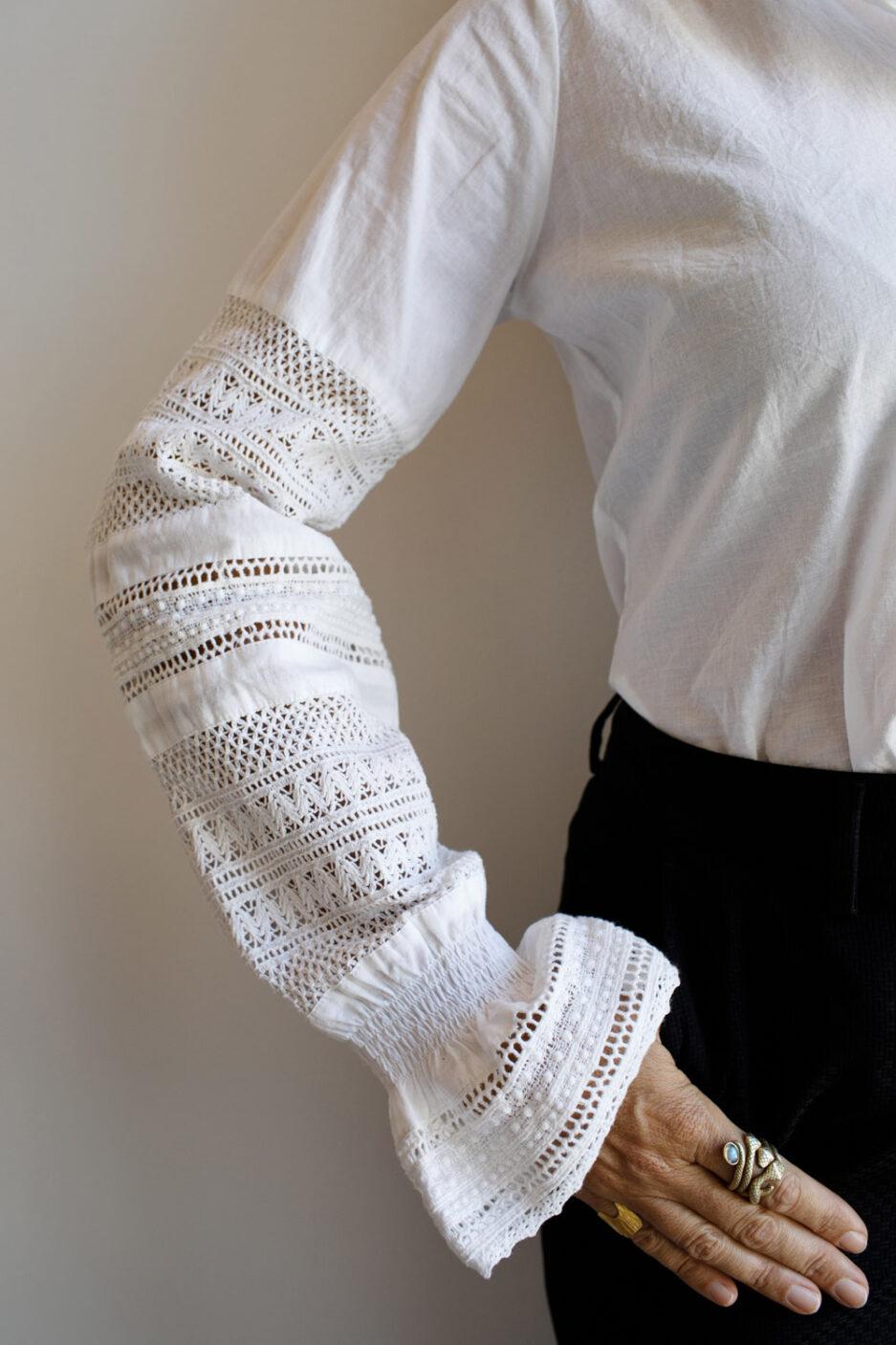 Camisa romântica em algodão orgânico-Violet&Ginger