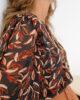 Blusa com manga 3/4 estampada